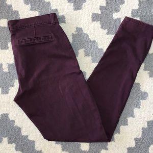 Banana republic plum skinny pants